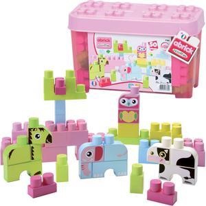 Ecoiffier Abrick Box mit Tier Maxi-Bausteinen (Rosa) [Kinderspielzeug]